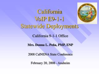 California VoIP E9-1-1 Statewide Deployments