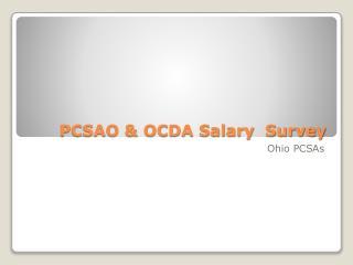 PCSAO & OCDA Salary  Survey