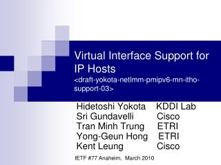 Virtual Interface Support for IP Hosts <draft-yokota-netlmm-pmipv6-mn-itho-support-03>