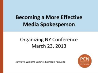Becoming a More Effective Media Spokesperson