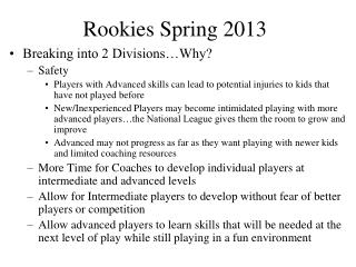 Rookies Spring 2013