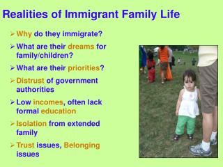 Realities of Immigrant Family Life