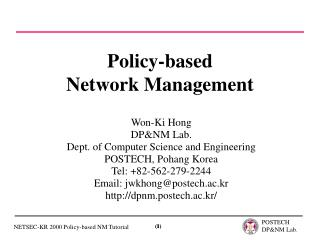 Policy-based Network Management