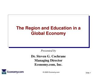 The Region and Education in a Global Economy