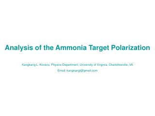 Contents: Introduction Target Setup in the Eg4 Experiment   Analysis of the Target Polarization