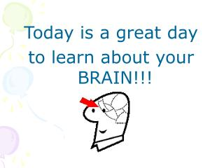 Today is a great day  to learn about your BRAIN!!!