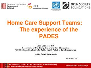 Home Care Support Teams: The experience of the PADES
