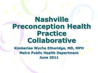 Nashville Preconception Health Practice Collaborative