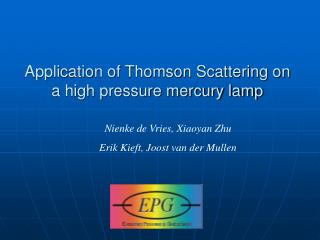 Application of Thomson Scattering on a high pressure mercury lamp