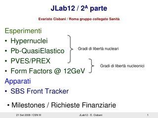 JLab12 / 2 A  parte