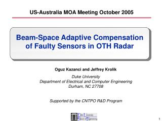 US-Australia MOA Meeting October 2005