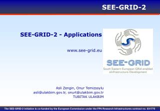 SEE-GRID-2 - Applications