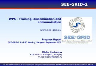 WP5 - Training, dissemination and communication