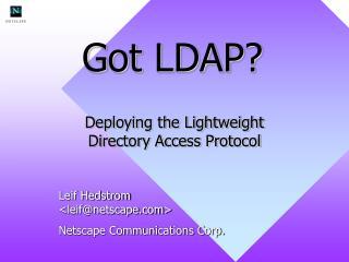 Got LDAP