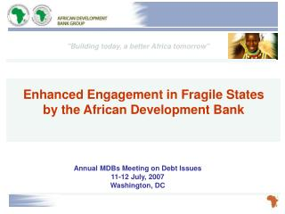 Annual MDBs Meeting on Debt Issues 11-12 July, 2007 Washington, DC