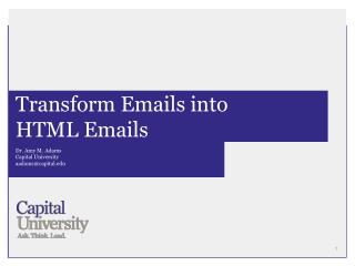 Transform Emails into  HTML Emails