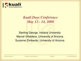 Kuali Days Conference May 13 - 14, 2008