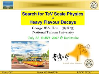 Search for TeV Scale Physics in Heavy Flavour Decays