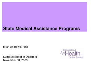 Ellen Andrews, PhD SustiNet Board of Directors November 30, 2009