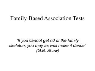 Family-Based Association Tests