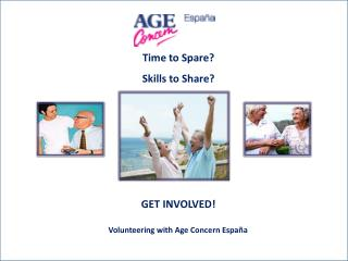 Time to Spare? Skills to Share? GET INVOLVED!