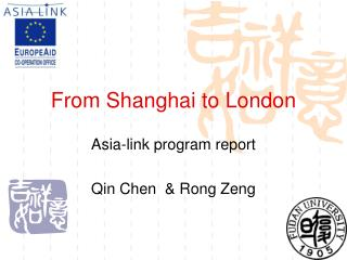 From Shanghai to London