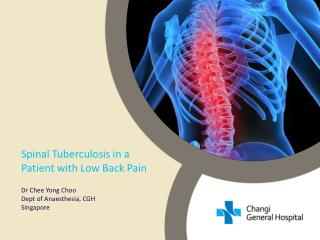 Spinal Tuberculosis in a Patient with Low Back Pain