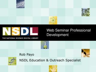 Web Seminar Professional Development
