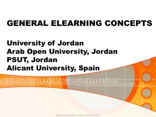 GENERAL ELEARNING CONCEPTS