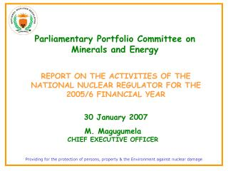 Parliamentary Portfolio Committee on Minerals and Energy