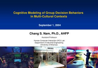 Cognitive Modeling of Group Decision Behaviors  in Multi-Cultural Contexts