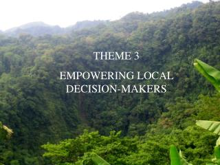 THEME 3  EMPOWERING LOCAL DECISION-MAKERS