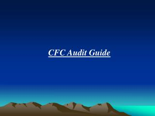 CFC Audit Guide