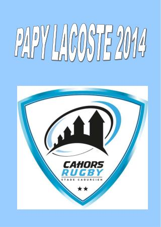 PAPY LACOSTE 2014