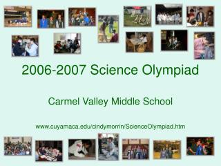 2006-2007 Science Olympiad