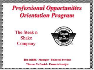 Professional Opportunities Orientation Program
