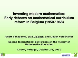 Inventing modern mathematics: