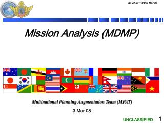 Mission Analysis (MDMP)