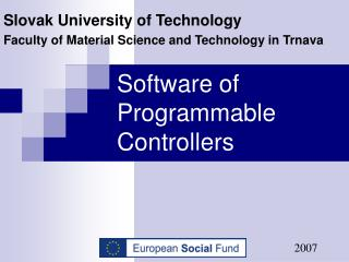 Software of Programmable Controllers