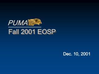 Fall 2001 EOSP