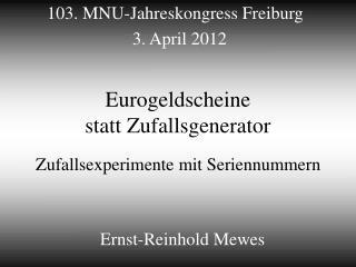 Eurogeldscheine  statt Zufallsgenerator