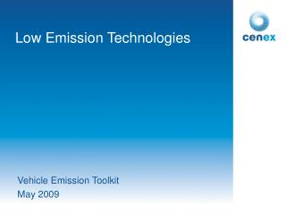 Low Emission Technologies