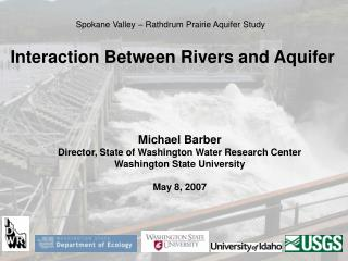Interaction Between Rivers and Aquifer