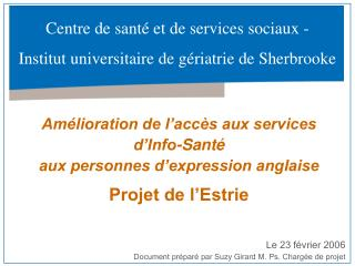 Amélioration de l'accès aux services d'Info-Santé aux personnes d'expression anglaise