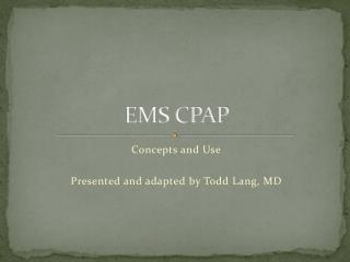 EMS CPAP