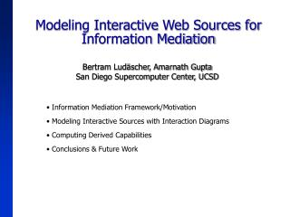 Modeling Interactive Web Sources for Information Mediation