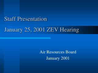 Air Resources Board January 2001