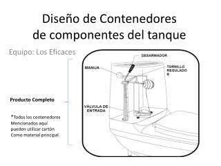 Diseño de Contenedores de componentes del tanque