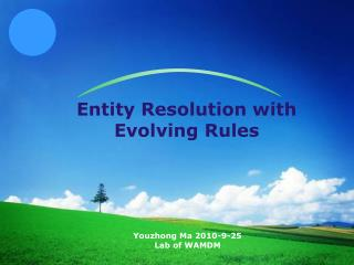 Entity Resolution with Evolving Rules