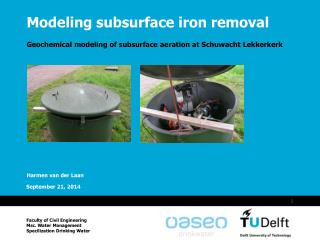 Modeling subsurface iron removal